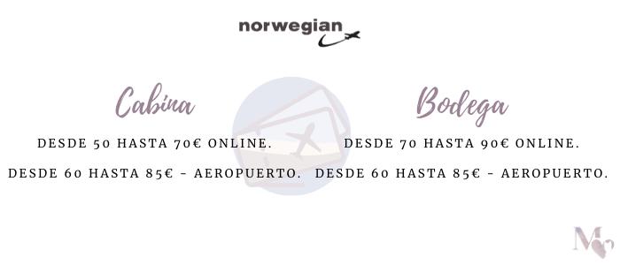 tarifas perro norwegian