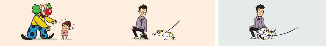 Algunos perros tienen miedo a ciertos objetos