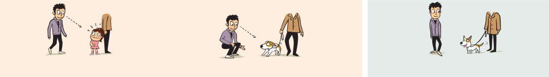 Evitar saludar a un perro de forma frontal y con la mirada fija