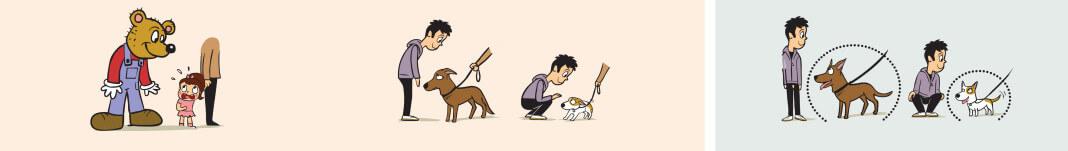 Respetar el espacio del perro